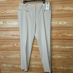 NWT Calvin Klein Beige Straight Leg Dress Pants 12